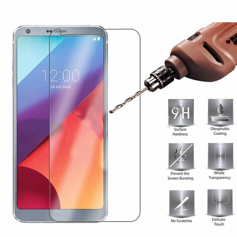 2.5D szkło hartowane 9H twardość folia ochronna dla LG K40 K30 V50 V40 L90 L80 Premium folia ochronna zaostrzenia ekran protector