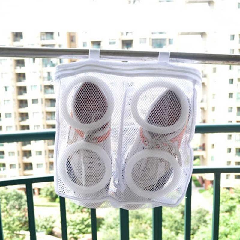 Chaussures lavage sac suspendu sec Sneaker maille blanchisserie sacs de rangement maison en utilisant des vêtements lavage Net chaussures protéger organisateur de lavage