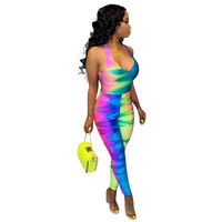 Rompers Womens Jumpsuit Plus Size Overalls Summer Casual Combinaison Trendy Jumpsuit For Women 2019 Elegantes Rainbow Pants