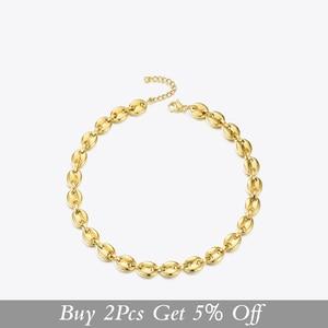 Image 2 - ENFASHION Punk Coffee Beans Link Chain Choker Necklace Women Stainless Steel Gold Color Hip Hop Rock Necklaces Men Jewelry P3022