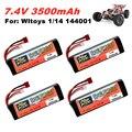 Оригинальный литий-полимерный аккумулятор Wltoys 144001 2s 7,4 В 3500 мАч, Модернизированная аккумуляторная батарея для Wltoys 1/14 144001 12428, Радиоуправляем...