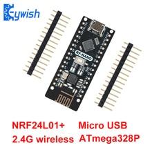 Nano V3.0 mit NRF24l01 +, Micro USB, ATmega328P, 2,4G wireless Für Arduino QFN32 5V CH340 USB Fahrer Nano Board Mit Dem Bootloader
