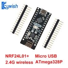 Nano V3.0 z NRF24l01 +, Micro USB, ATmega328P, 2.4G bezprzewodowy dla Arduino QFN32 5V CH340 pendrive płytą Nano z bootloadera