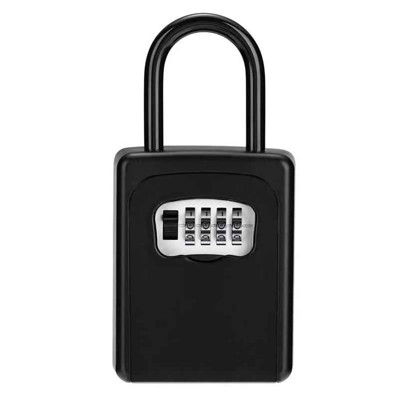 4-Digit Key Lock Box Combination Password Lock Box With Code For House Key Storage Combo Door Locker