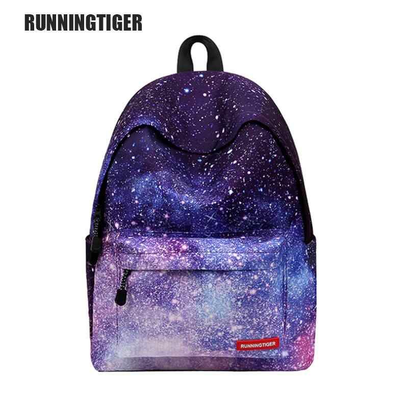 2020 Hot Multicolor Wanita Kanvas Ransel Bergaya Galaxy Bintang Ruang Ransel Girls School Backbag Mochila Femine WM550Z