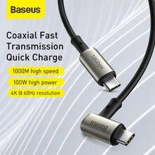 Baseus-Cable USB 3,1 tipo C, Cable tipo C a tipo C PD, 100W, carga rápida, 4,0, para MacBook Pro, 4K, HDMI, Cable tipo C