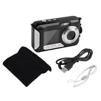 2.7inch TFT Digital Camera Waterproof 24MP/48MP MAX 1080P Double Screen 16x Digital Zoom Camcorder HD268 Underwater Camera