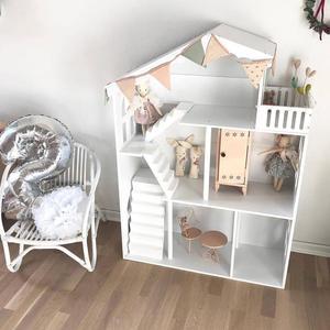 Кукольный домик для детей книжный шкаф книжная полка в скандинавском стиле Дом Кукольный дом шкаф для хранения игрушек