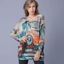 Женские свитера очень большого размера автомобиля трикотаж с
