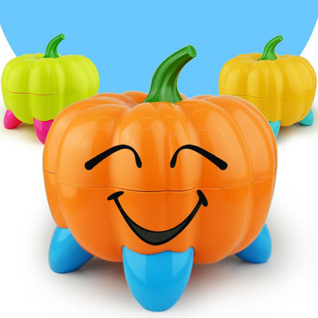 Baby Potty Toilet Bowl Cute Pumpkin Cartoon Training Pan Toilet Seat Children Bedpan Portable Urinal Comfortable Backrest Pot | Happy Baby Mama