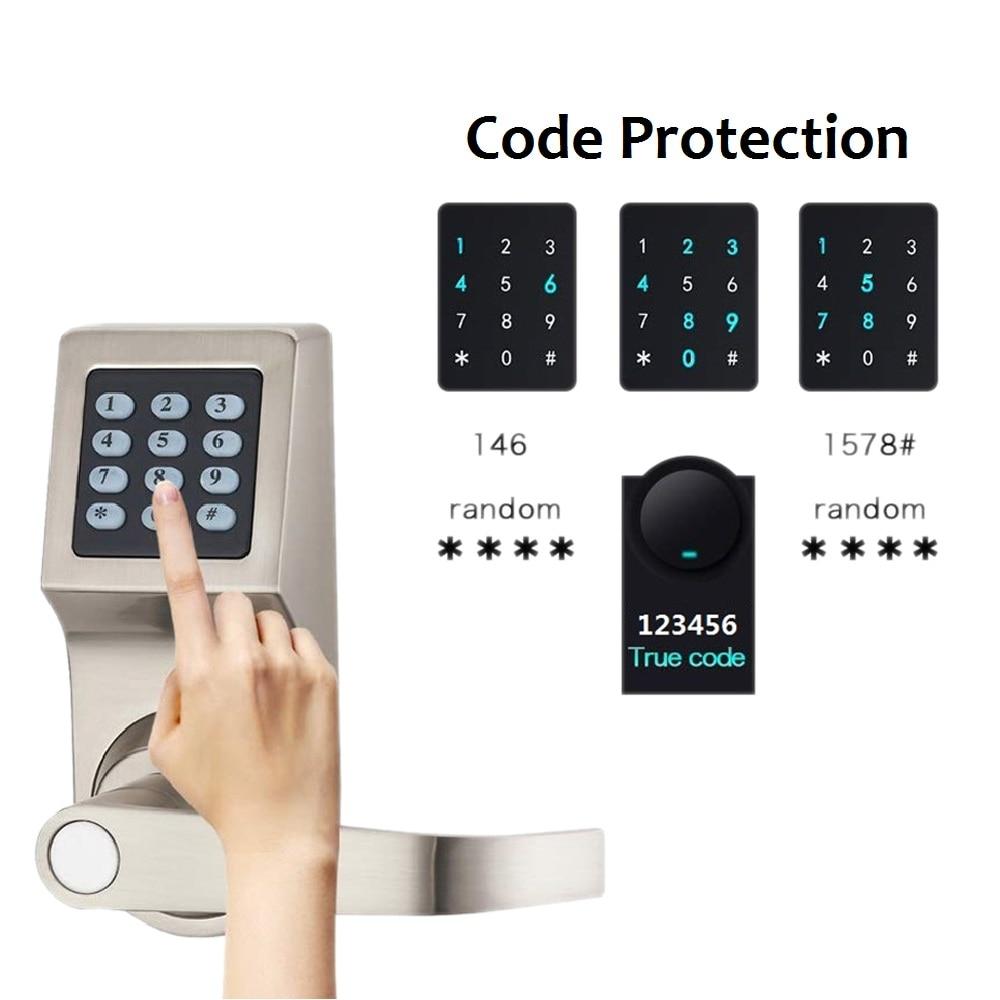 4 in 1 Digital Door Lock Keypad Electronic Code 800 Cards Deadbolt Control users