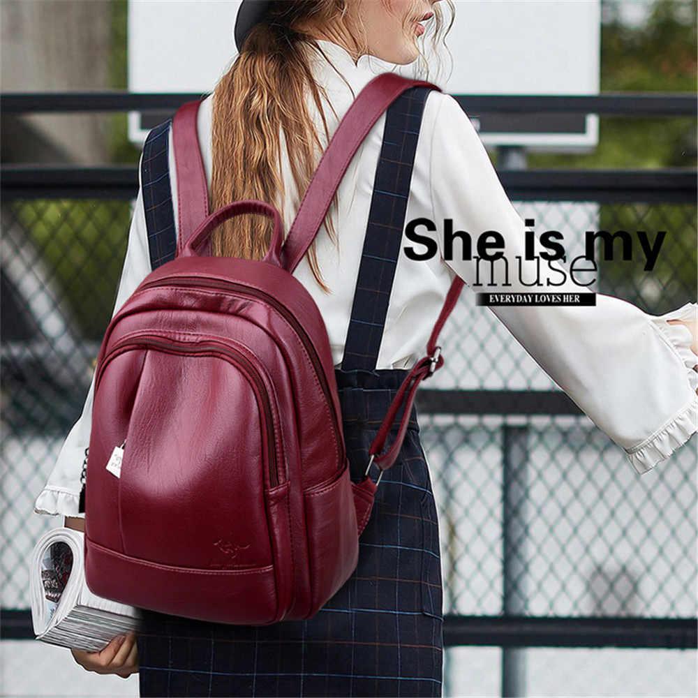Новый Классический женский рюкзак высокого качества кожаные рюкзаки школьные сумки для девочек-подростков рюкзак женский Mochila Sac A Dos Femme