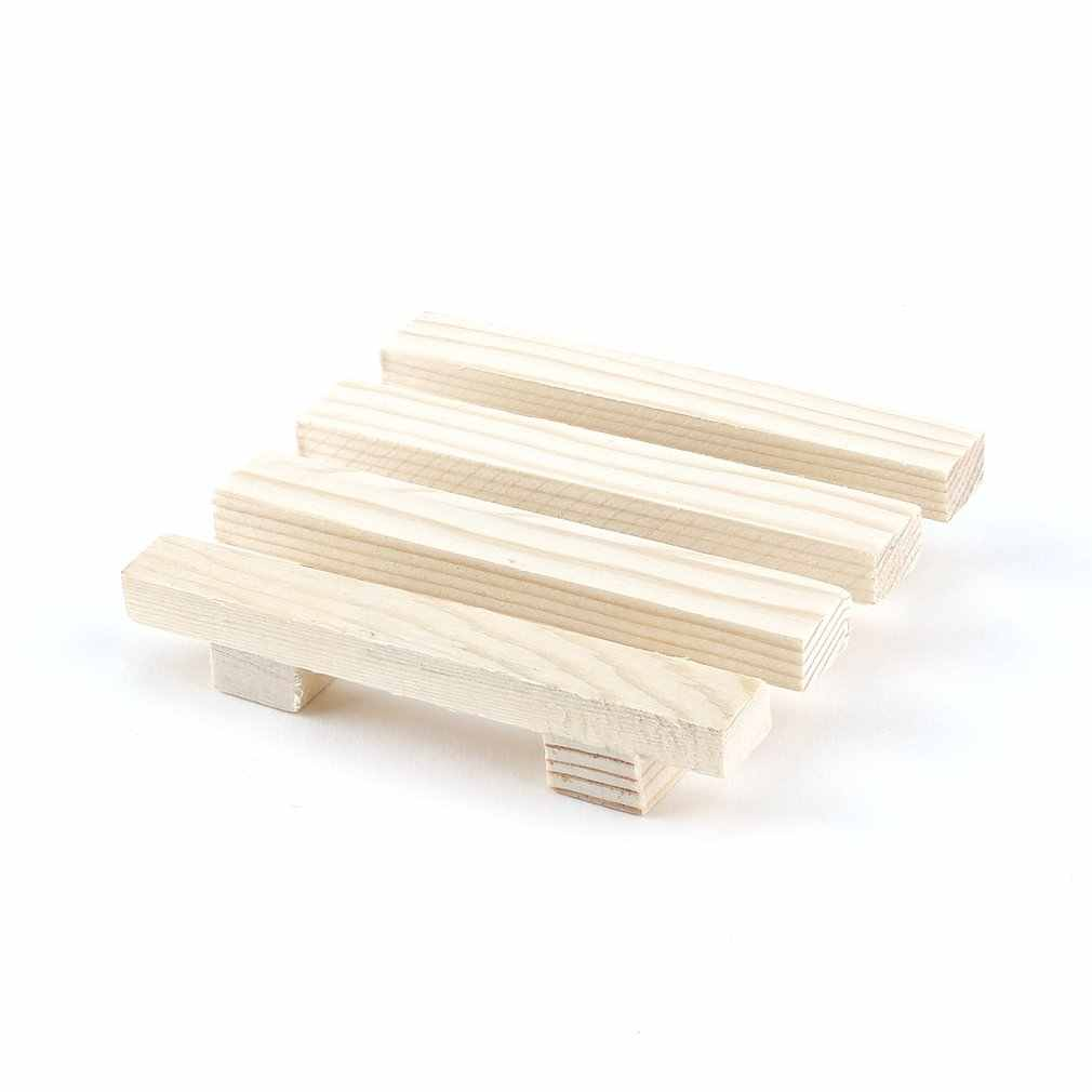 Natural Wood Wooden Soap Dish Storage Tray Holder Bath Shower Plate Support Tray Shower Plate Wash Soap Bath