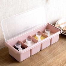 Кухня принадлежностей приправы коробка соляная банка Набор банок