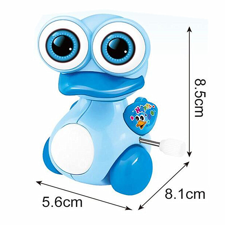 Small Xing Cartoon Winding Spring Little Duck With Big Eye Duck Small Toy Children Winding Toy Animals