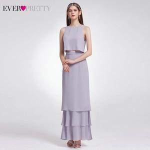 Image 3 - Elegant Two Pieces Bridesmaid Dresses Ever Pretty EP07173 O Neck Ruffles Layer Simple Chiffon Dress For Wedding Party Sukienki
