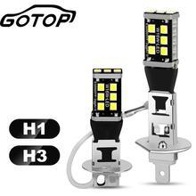 Car-Fog-Lamp Running-Light H3 Led 6000K H1 Super-Bright Day 12V 2835-Chips 2pcs Play