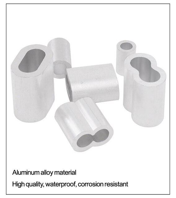 M1 до M12 Различные характеристики стальной трос крепежный зажим 8 образные двойные отверстия алюминиевые наконечники зажимы обжимной петли|Крепления|   | АлиЭкспресс