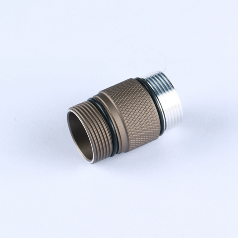 Aluminum Alloy 18350 Battery Body Tube for Convoy S2+ Sand LED Flashlight Portable Lighting Accessories