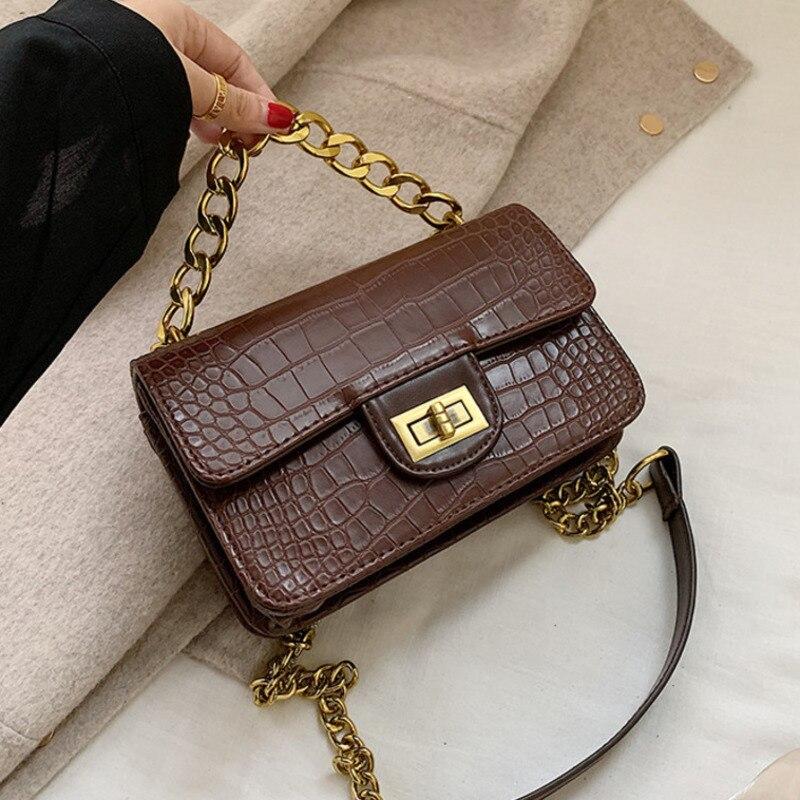 Female Alligator Shoulder Crossbody Bags Women 2020 Leather Luxury Handbags Famous Brand Designer Ladies Hand Crocodile Pattern
