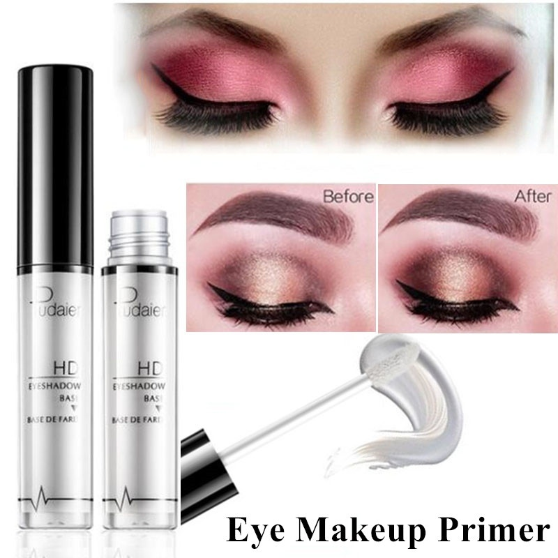 Pudaier Eye Primer Eye Base Cream Long Lasting Eyelid Primer Liquid Base Eyeshadow Base Primer Makeup Moisturzing Maquillage image