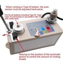 Wysokiej jakości i dobrej jakości automatyczna nawijarka  odpowiednia dla większości szpulek o średnicy wewnętrznej 6 MM. Z wtyczkami 110V i 220 V.