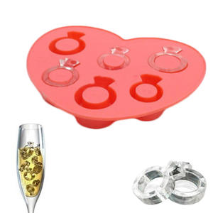 Ice Mold Ice-Tray Chocolate Diamond Freeze DIY Silicone Love-Ring Hot-Selling