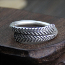 цена Ring Silver 925 Vintage Leaves Open Rings For Women And Men Thai Silver Nice Jewellery Party And Weddings Silver Ring онлайн в 2017 году