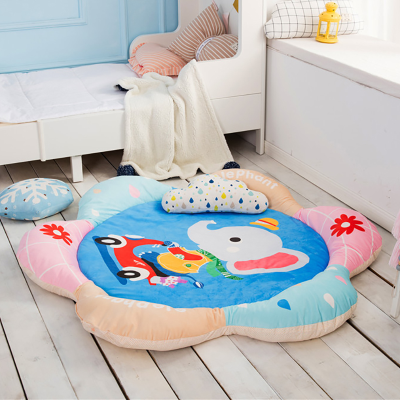Newborn Baby Carpet Room Play Mat Activity Mat Thick Crawling Cartoon Print Developing Mat Cotton YHM023