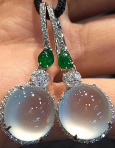 Natural Green Jade Pendant Drop Earrings 925 Silver Jadeite Chalcedony Amulet Fashion Charm Jewelry Gifts for Women Her
