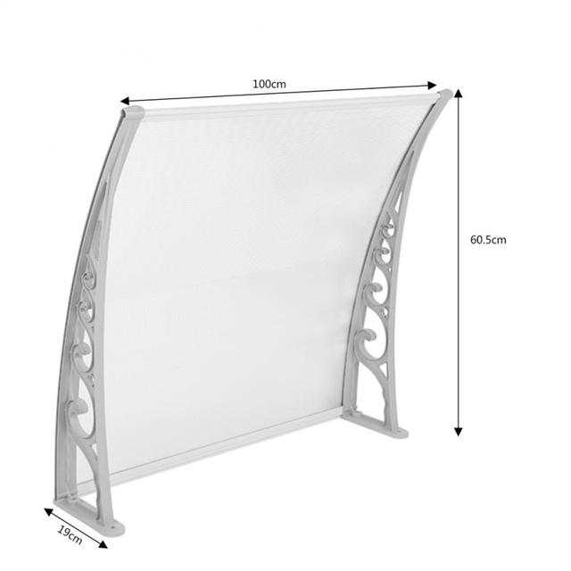 Outdoor Gazebos Front Door Window Awning Patio Cover Canopy Multi size Durable Door Canopy Awning Poly