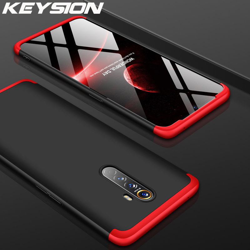 KEYSION 3 In 1 Phone Case For OPPO Realme X2 X2 Pro 5 3 Pro XT X Q C2 K3 360 Full Back Cover For OPPO A5 2020 A9 2020 Reno 2Z 2F