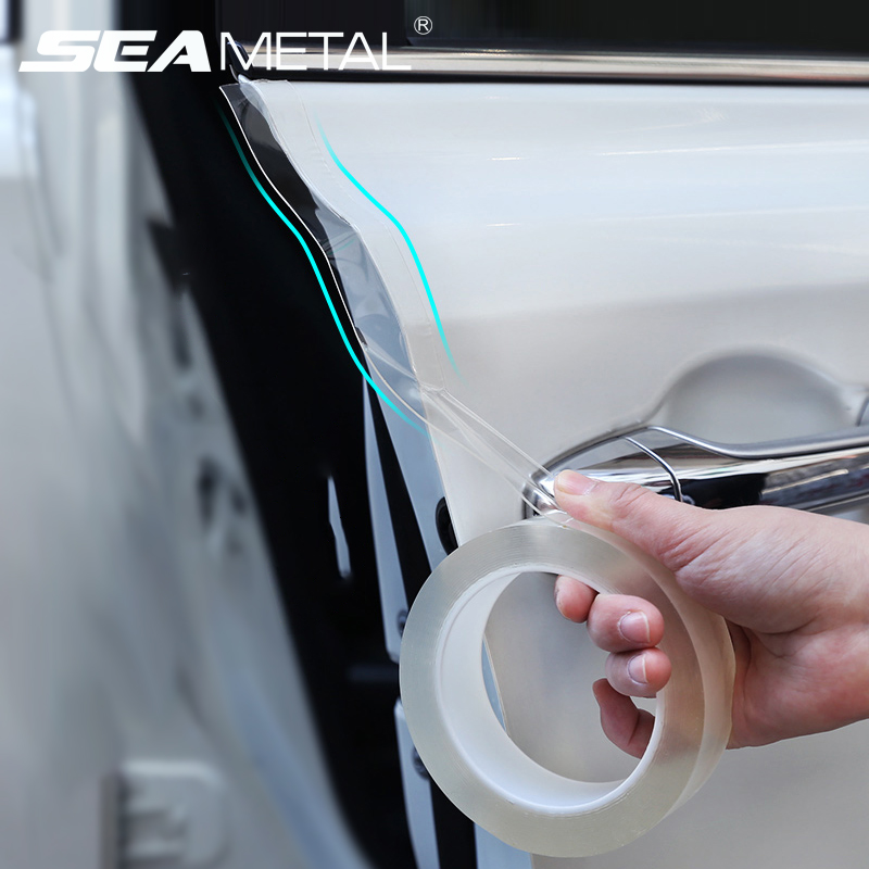 Car Stickers Auto Interior Protector Film Door Edge Protective Nano Glue Car Trunk Door Sill Full Body Sticker Vinyl Accessories