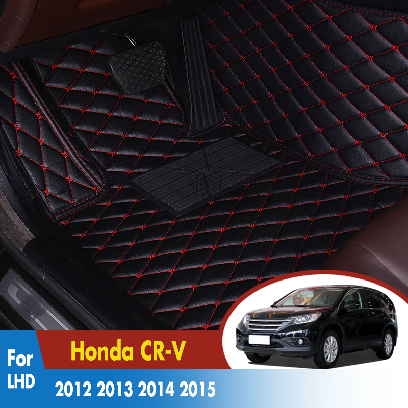 Car-Floor-Mats Rugs Custom-Carpets Honda cr-V Auto-Interior-Mat-Accessories Car-Styling title=