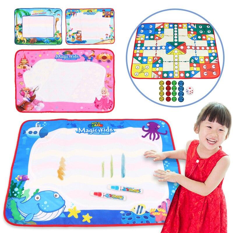 Children Rainbow-colored Magic Canvas Aeroplane Chess Game Doing Homework Blanket Graffiti Painted Children'S Educational Early