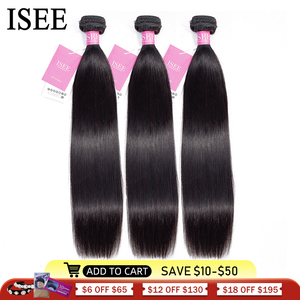Image 1 - Peruvian Straight Hair Extensions Human Hair Bundles No Tangle Nature Color Can Buy 1/3/4 Bundles Remy ISEE Human Hair Bundles