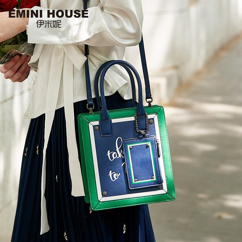Mini casa paris série tote bolsa de couro divisão crossbody sacos para as mulheres bolsas de ombro de luxo bolsas femininas designer