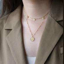 Двухслойное ожерелье amaiyllis из 18 каратного золота в богемном