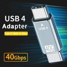 Tipo-c USB4 40Gbps adattatore USB-C da maschio a maschio convertitore di sincronizzazione dati cavo di prolunga per Macbook Pro Air Dell Thunderbolt 3 Laptop