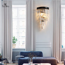 Tiooka роскошный блестящий k9 хрустальный светодиодный настенный
