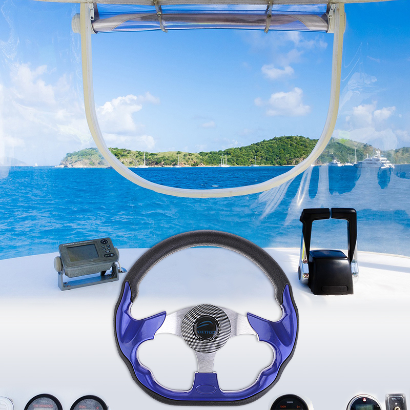 320mm Boat Steering Wheel Marine Non-directional Steering Wheel 3 Spoke For 3/4
