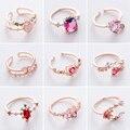 Neue Mode Micro-intarsien Kristall Zirkon Ringe Süße Elegante Blume Ring für Mädchen Frauen Finger Bague schmuck Braut Geschenk zarte