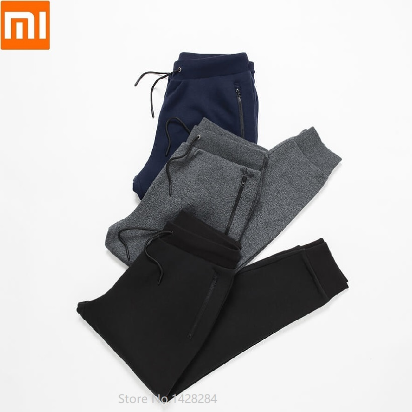 Xiaomi  Life Men's Fleece Pants Soft And Refreshing Leisure Sports Pants Male Loose Cotton Trousers High Elastic  Sweatpants