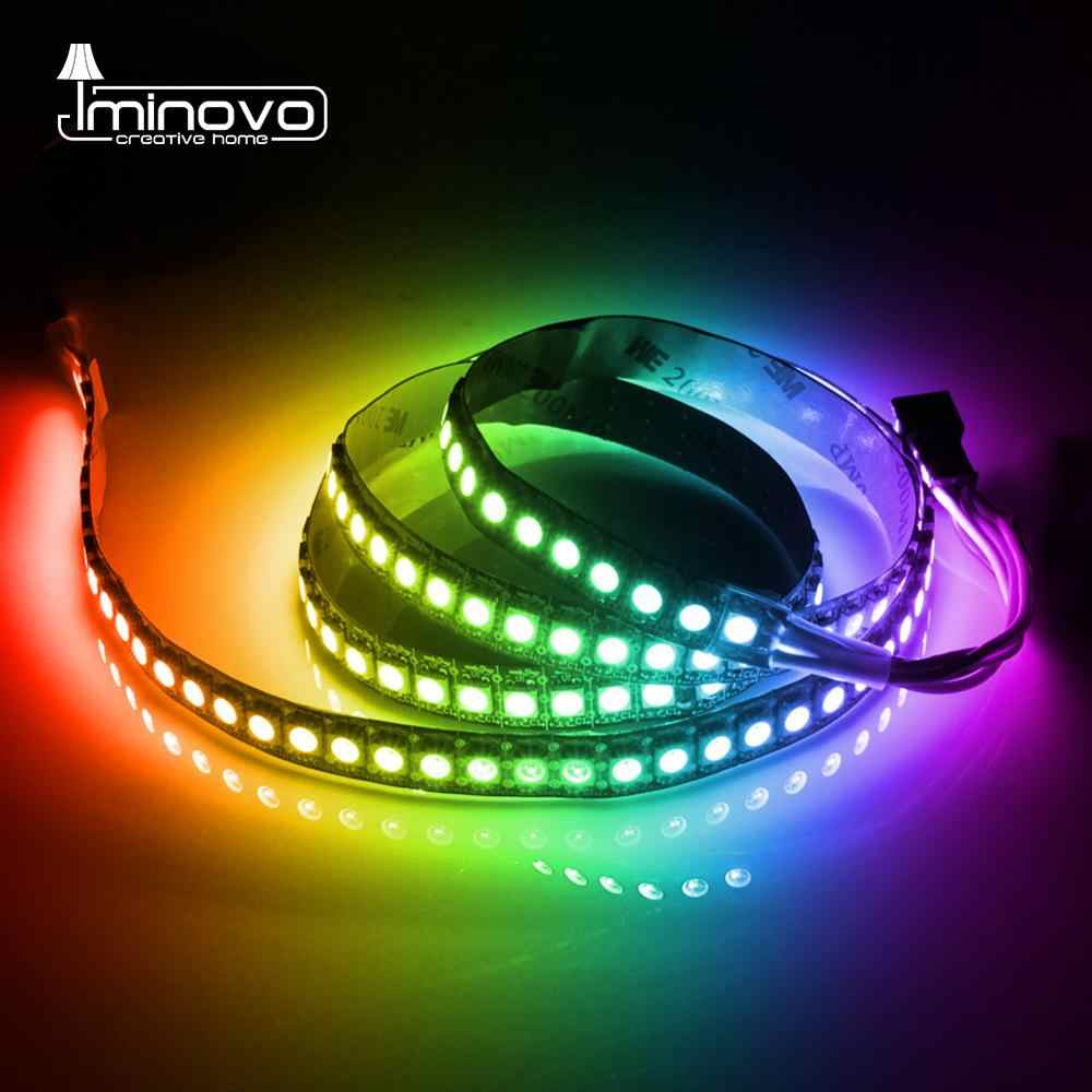 WS2812B LED Strip DC 5V 30/60/144 LEDs RGB Smart Addressable Pixel Black White PCB WS2812 IC 50CM 1M 2M 3M 4M 5M 17Key Bar KTV
