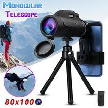 BAK4 призма Высокое Увеличение список Монокуляры низкий уровень освещения ночного видения водонепроницаемые, влажность военный концертный телескоп 80x100