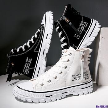 Męskie buty 39 S mężczyźni Oxford buty wulkanizowane koreańskie męskie buty płócienne buty dzikie męskie trendy na co dzień wysokie buty aby pomóc pływów buty tanie i dobre opinie BOGARETE BV Płótno CN (pochodzenie) RUBBER Lace-up Pasuje prawda na wymiar weź swój normalny rozmiar Oksfordzie Wiosna jesień