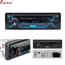 LaBo Radio samochodowe 1din Radio samochodowe Aux odbiornik wejściowy Radio stereo bluetooth MP3 odtwarzacz multimedialny obsługuje fm/MP3/WMA/USB/SD karty