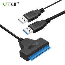 цена на USB SATA 7+15Pin Adapter Converter Cable for 2.5 inch HDD Laptop Hard Disk Disk Drive Computer Cables Connectors SATA TO USB