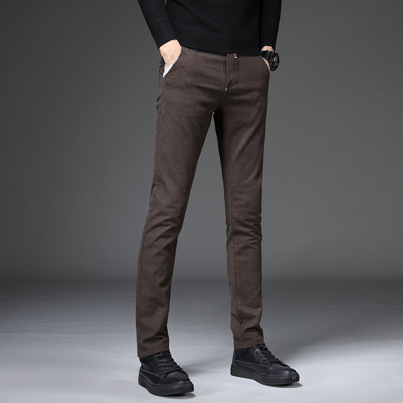 2019 S&S Brand Mens Slim-fit Chinos Trousers Men Casual Pants Chino Business Fashion Leisure Elastic Straigh Male
