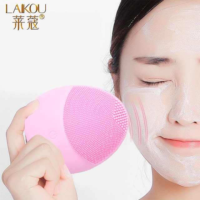 LAIKOU Silicone Face Cleansing Brush Electric Face Cleanser Electric Facial Cleanser Cleansing Skin Deep Washing Massage Brush 1